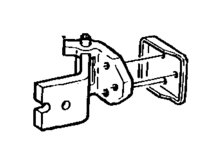 Jeep Cherokee Door Check Pin. Check arm. Door Check Pin. 2