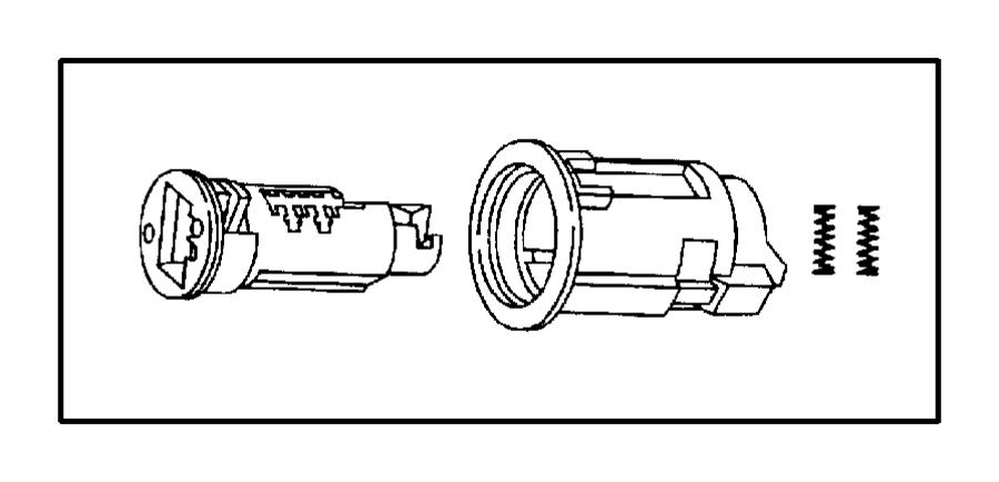 Chrysler Concorde Lock. Cylinder. 4 Door. Bright. Uncoded