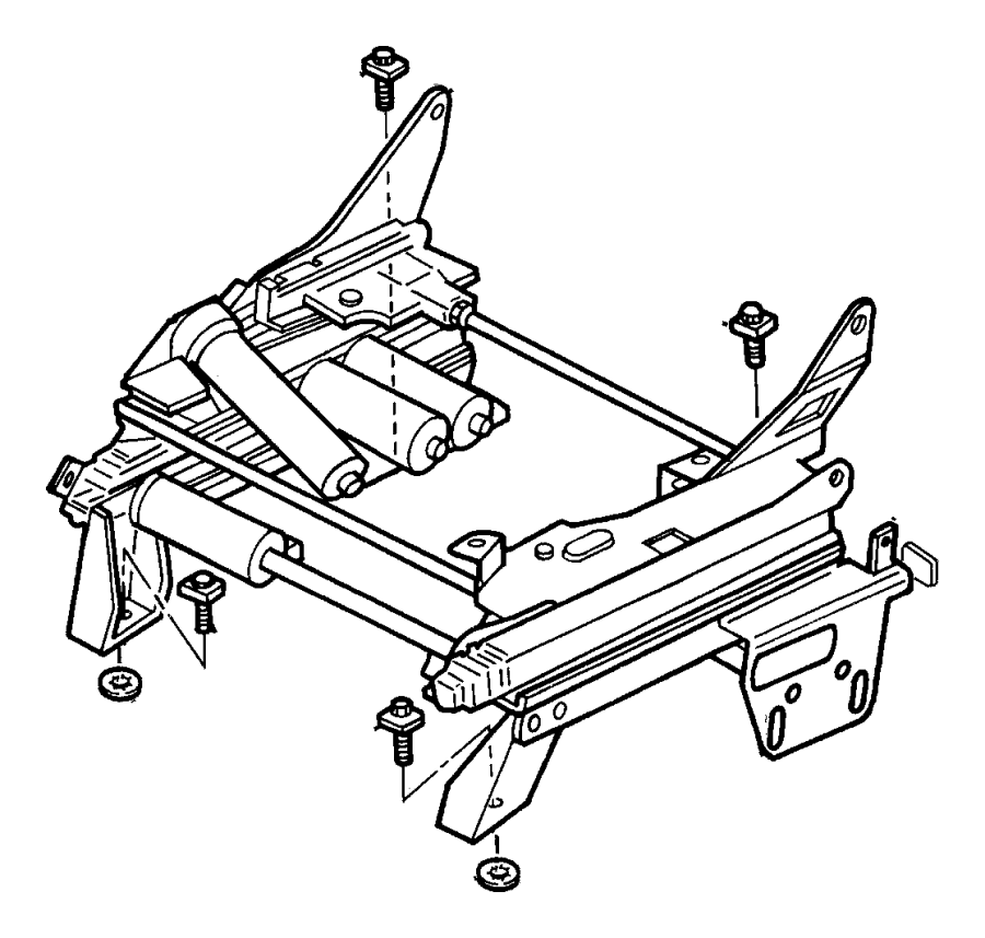 Chrysler Town & Country Seat Adjuster. MANUAL, outer