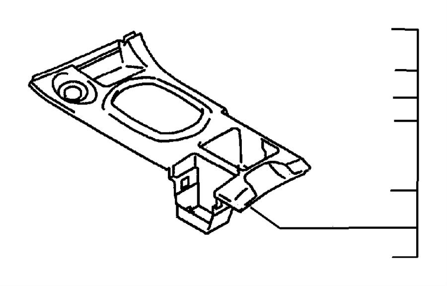 Dodge Avenger Console Cup Holder. 1995-99, under lid, auto