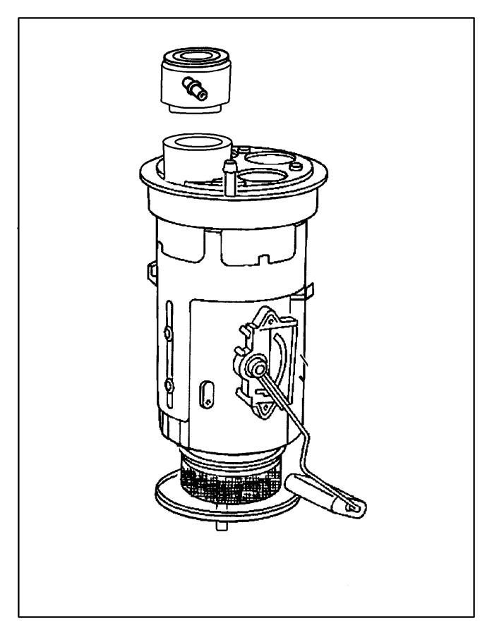 Jeep Grand Cherokee Fuel filter. Regulator. Location-in