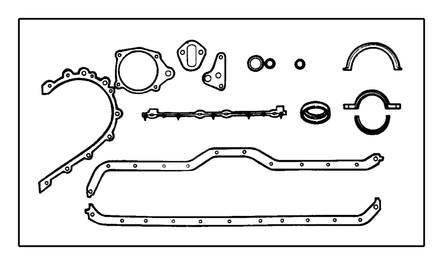 Jeep Cherokee Engine Crankcase Cover Gasket Set (Lower