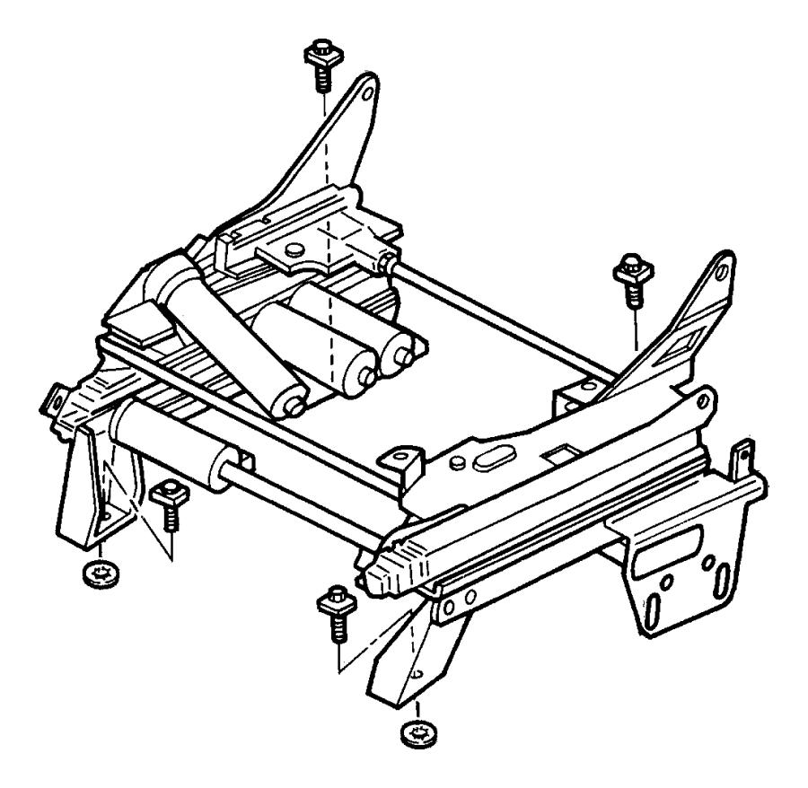 Dodge Caravan Seat Adjuster. MANUAL, outer. POWER, w/o