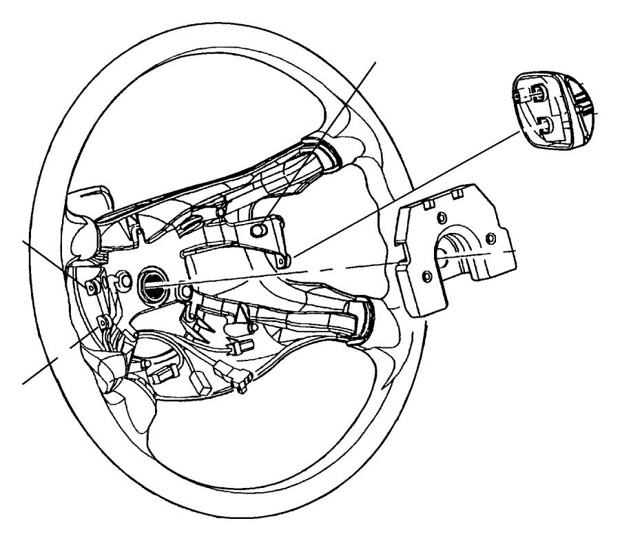 Dodge Neon Steering Wheel. Neon; w/o Leather; w/Cruise