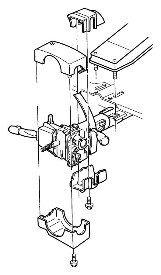Dodge Ram 2500 Steering Column Cover. Wtilt, Upper, Lock