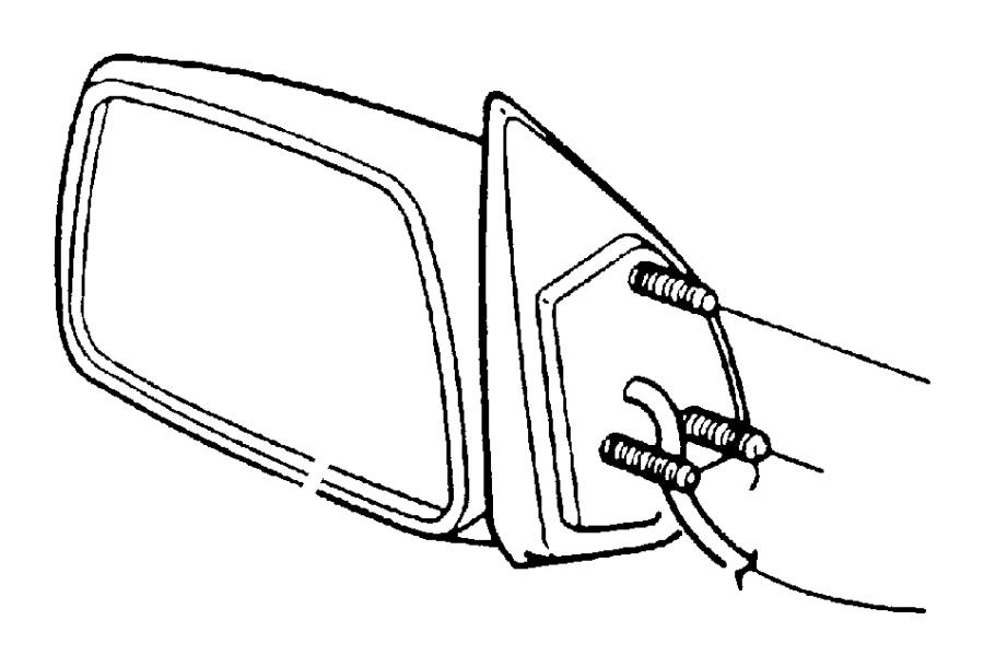 Jeep Grand Cherokee Mirror. ELECTRIC, heated, in body