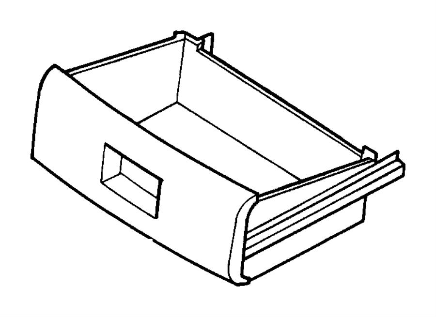 Chrysler Grand Voyager Seat Storage Drawer. MANUAL. TRACKS
