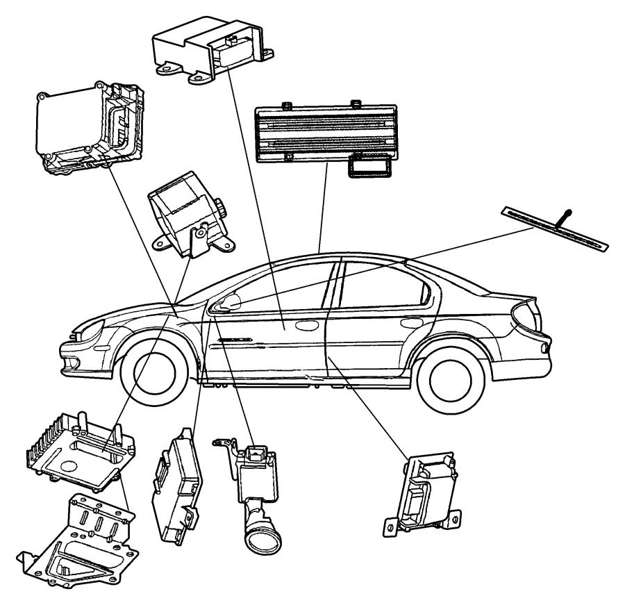 Dodge Neon Ignition Immobilizer Module. Immobilizer. Neon