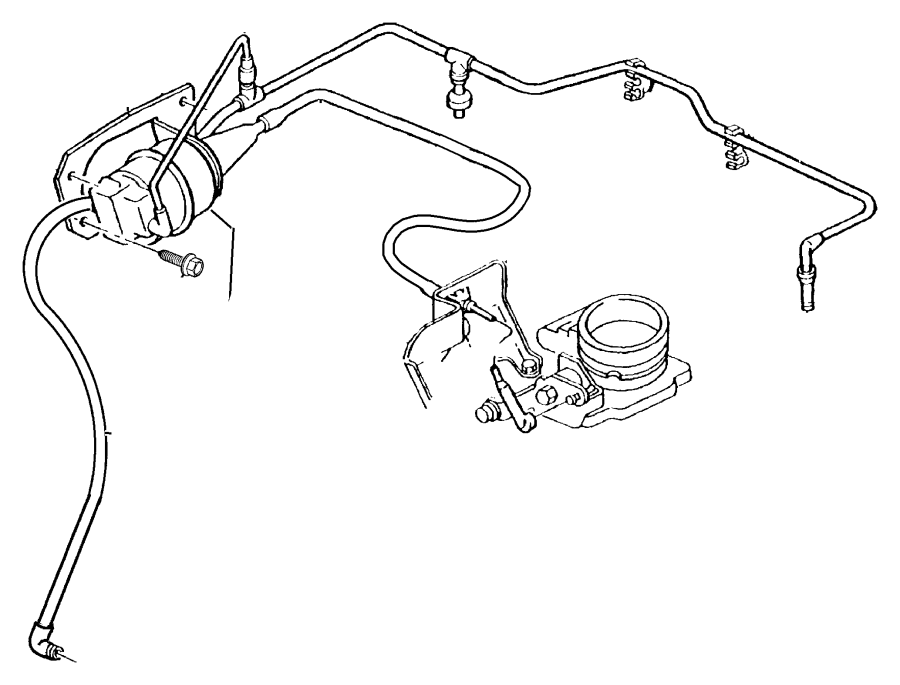 Jeep Cherokee Cable. ENGINE COMPARTMENT, 1991-96. MJ, XJ