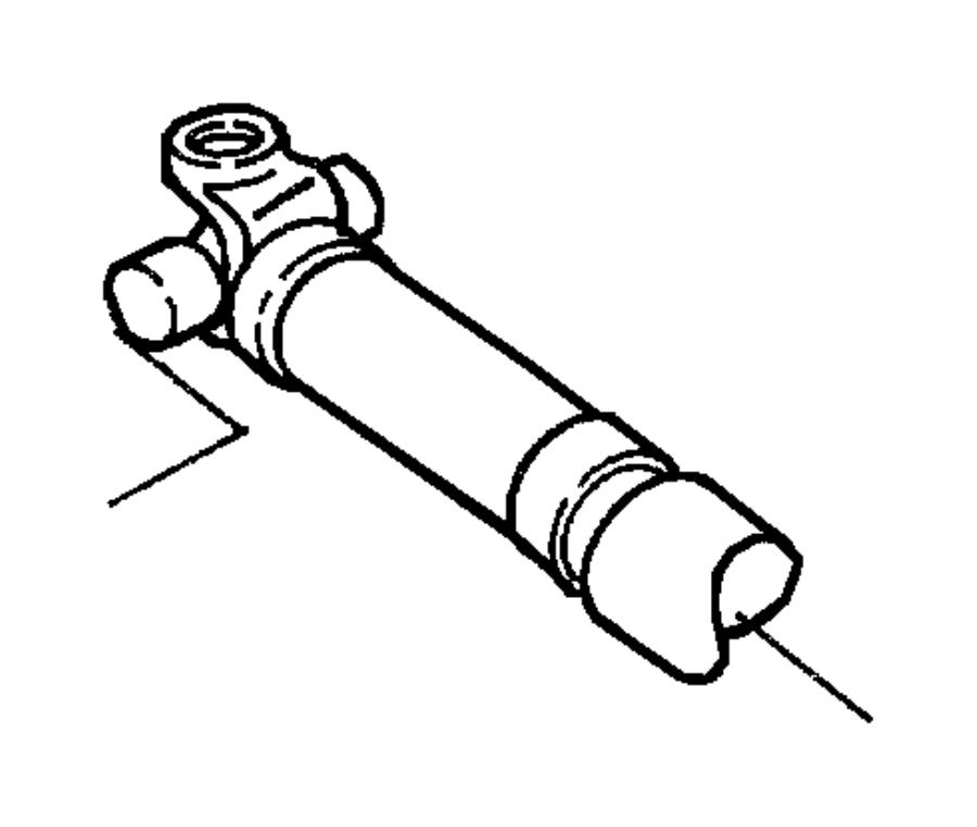 Dodge Dakota Drive shaft. Front propeller shaft. Dakota