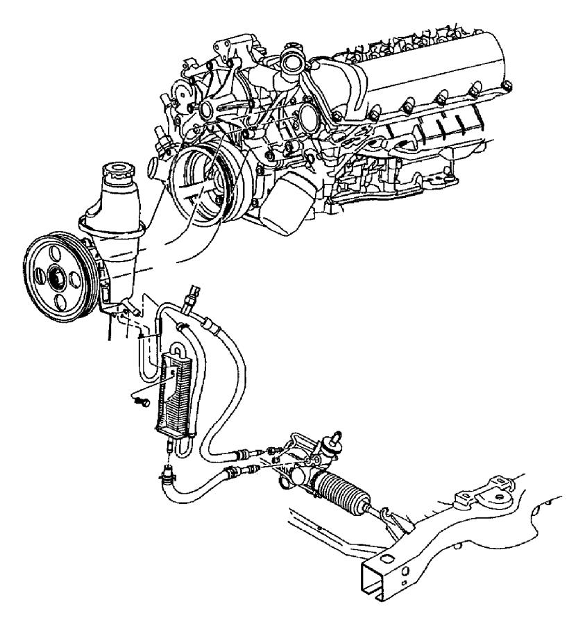 Dodge Dakota Power Steering Cooler. DRIVE, WHEEL, LITER