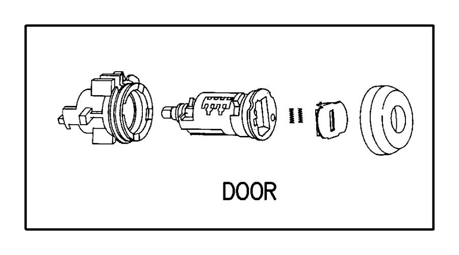 Dodge Grand Caravan Lock. CYLINDER. Door. All Models. Neon
