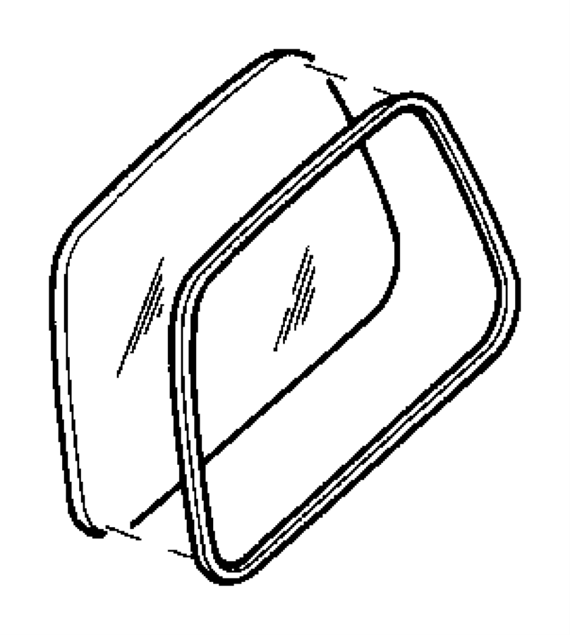 Jeep Wrangler Quarter Glass Seal. HARDTOP. HARDTOP, w/o