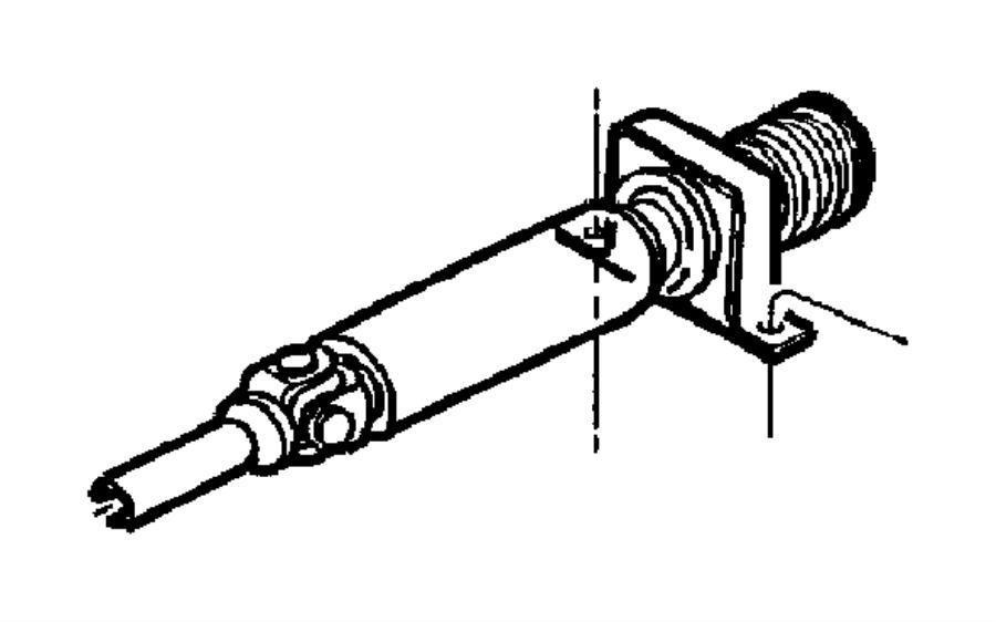 Dodge Dakota Drive shaft. Dakota; 2wd; two piece; manual