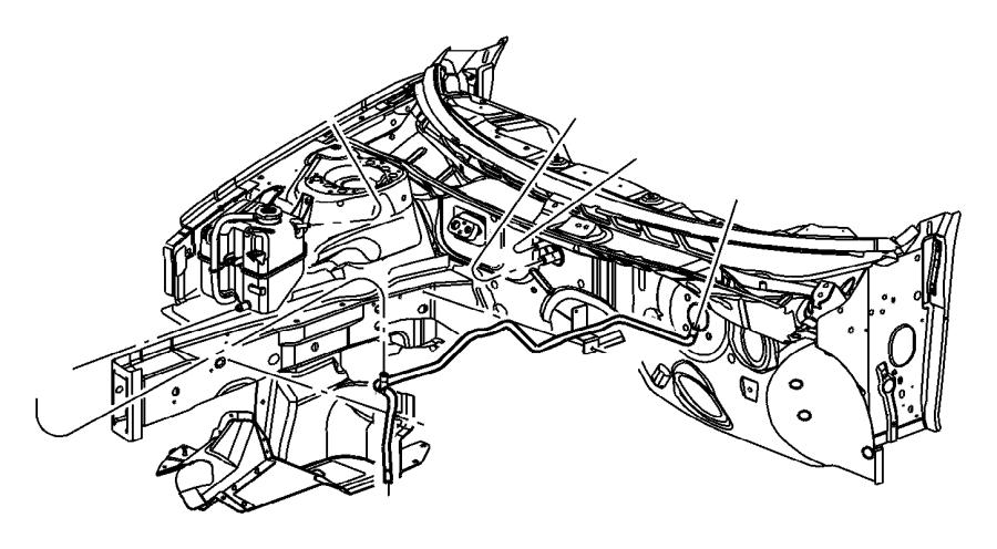 Dodge Stratus Engine Coolant Pipe. 2.7 liter. SEDAN, 2.7