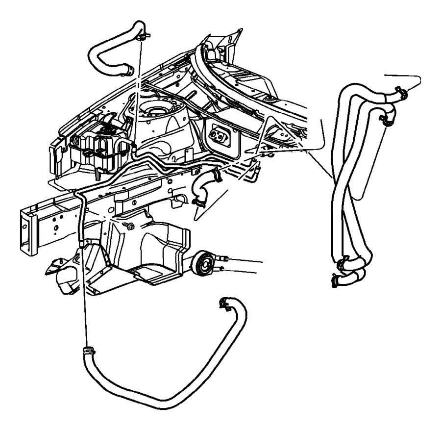 Dodge Stratus Engine Coolant Pipe. 2.4 LITER. SEDAN, 2.4