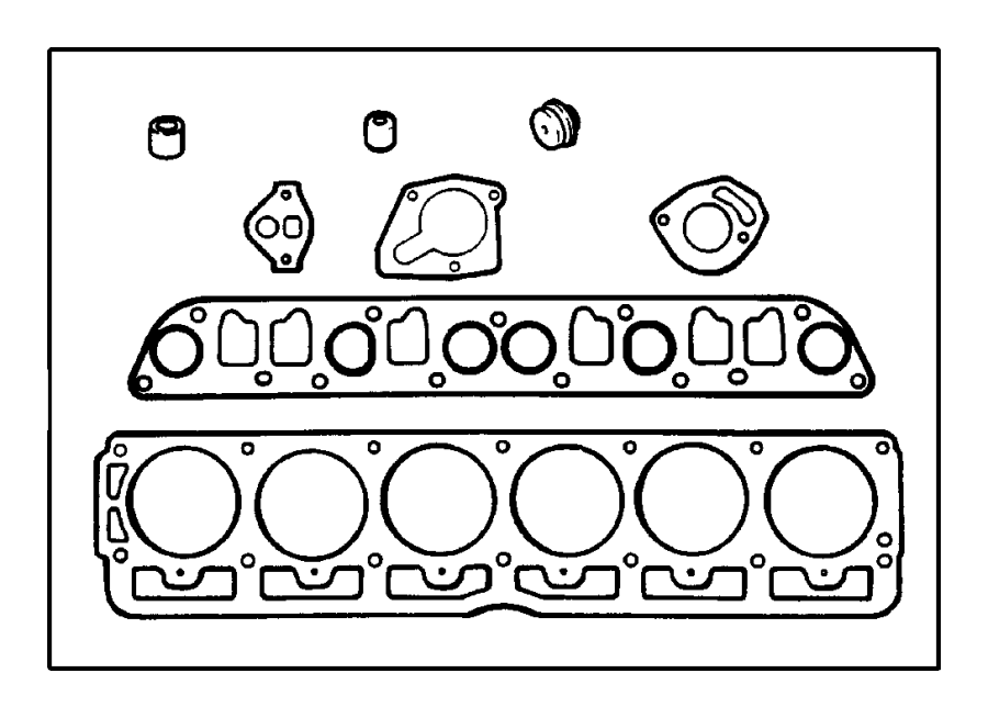 Jeep Wrangler Engine Cylinder Head Gasket Set (Upper