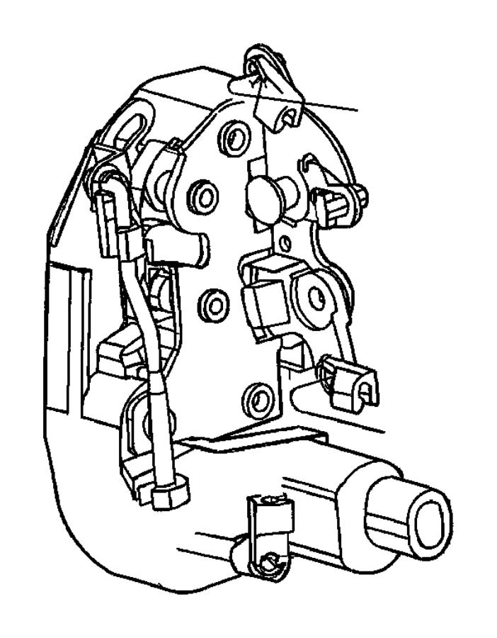 Jeep Cherokee Latch. Lock. Door. Actuator. (rear