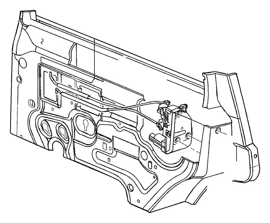 Jeep Cherokee Door Lock Operating Rod. Inside handle