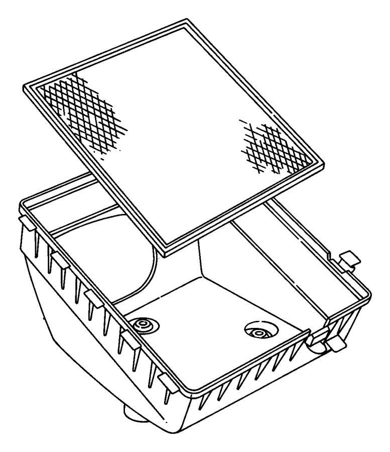 Dodge Ram 3500 Air Filter Housing. 5.9 LITER, DIESEL