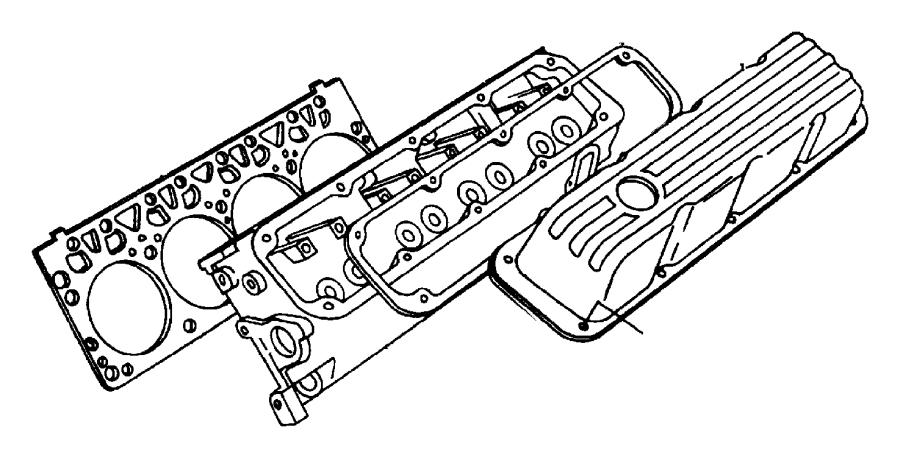 Dodge D150 Engine Valve Cover Gasket. Engine Valve Cover
