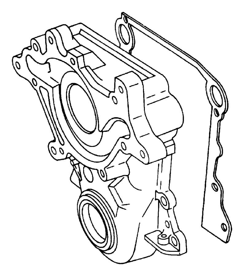 Dodge B2500 Engine Timing Cover Gasket (Front