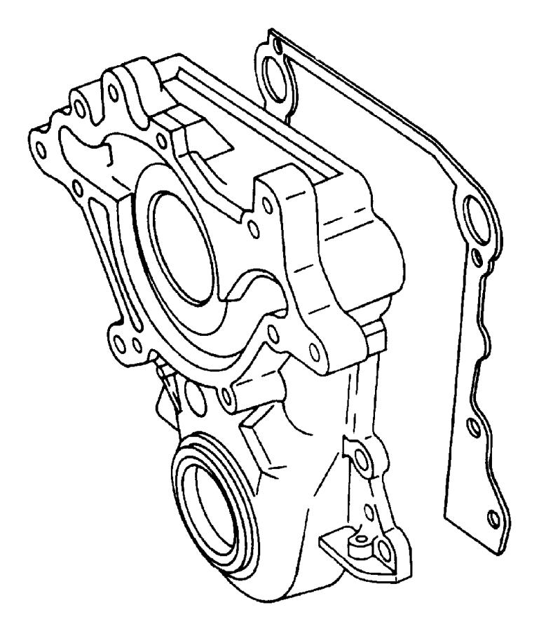 Dodge Dakota Engine Timing Cover Gasket (Front