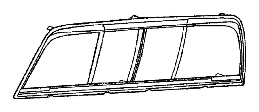 Dodge Ram 2500 Back Glass (Rear). Chrysler, sliding glass