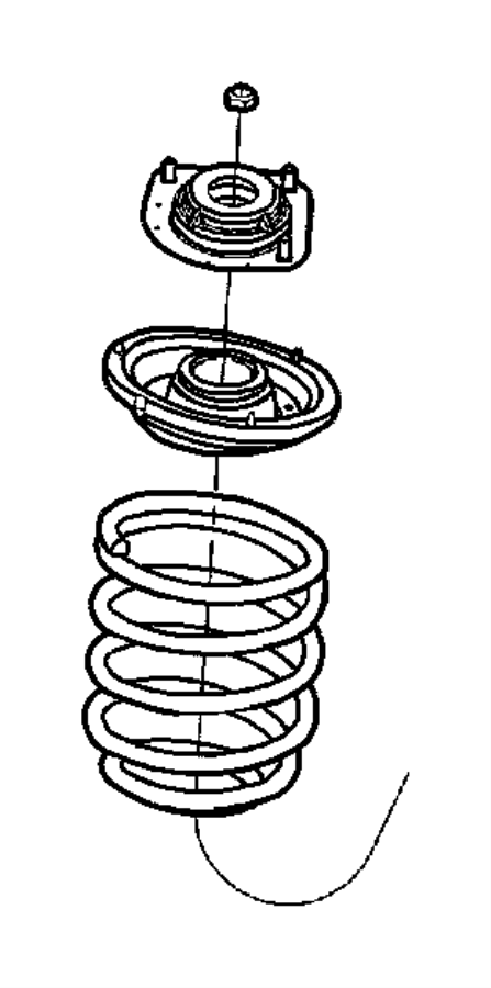 Dodge Neon Coil Spring Insulator. SUSPENSION, Front, Seat