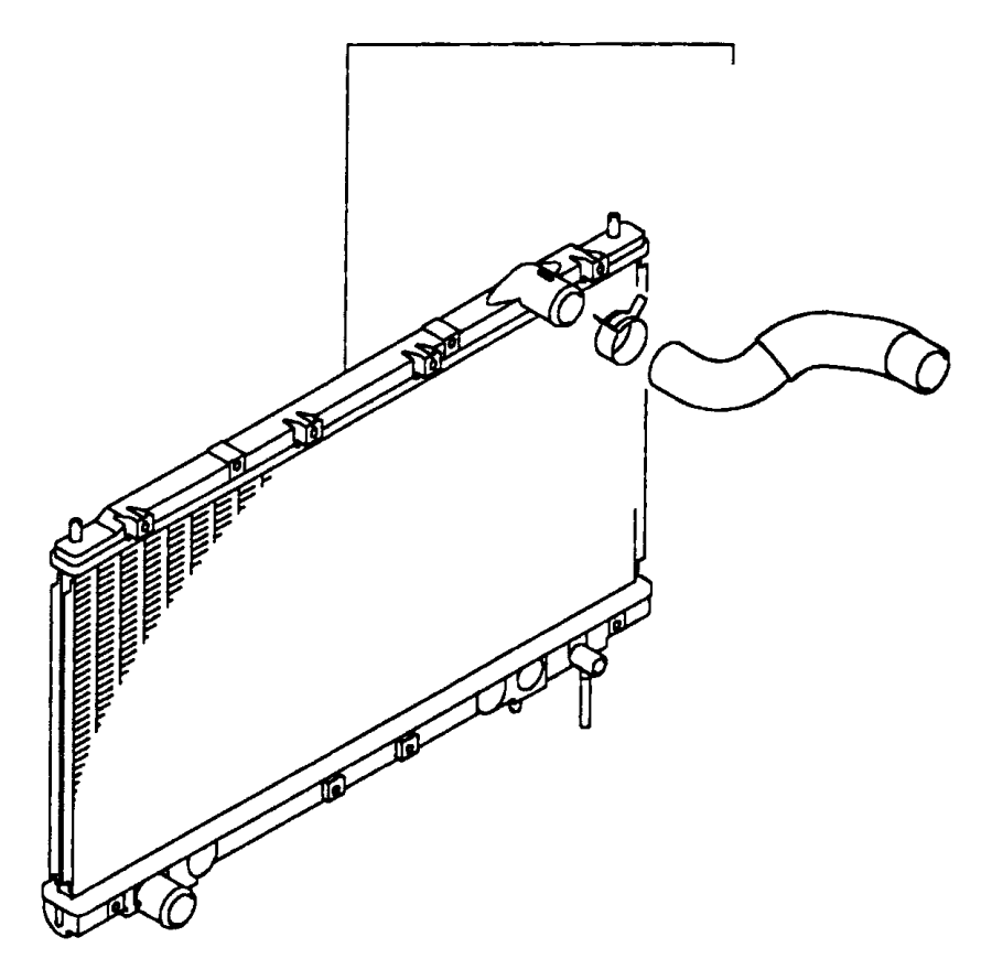 Dodge Avenger Radiator Coolant Hose. 2.0 LITER, RADIATOR