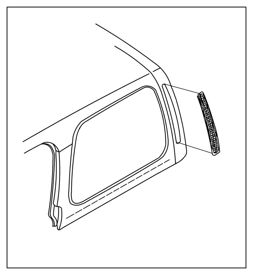 Jeep Wrangler Air vent grille. EXHAUSTER. Front door