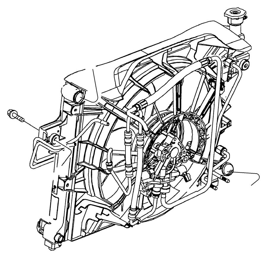 Jeep Grand Cherokee Engine Oil Cooler Line. Return tube. 4