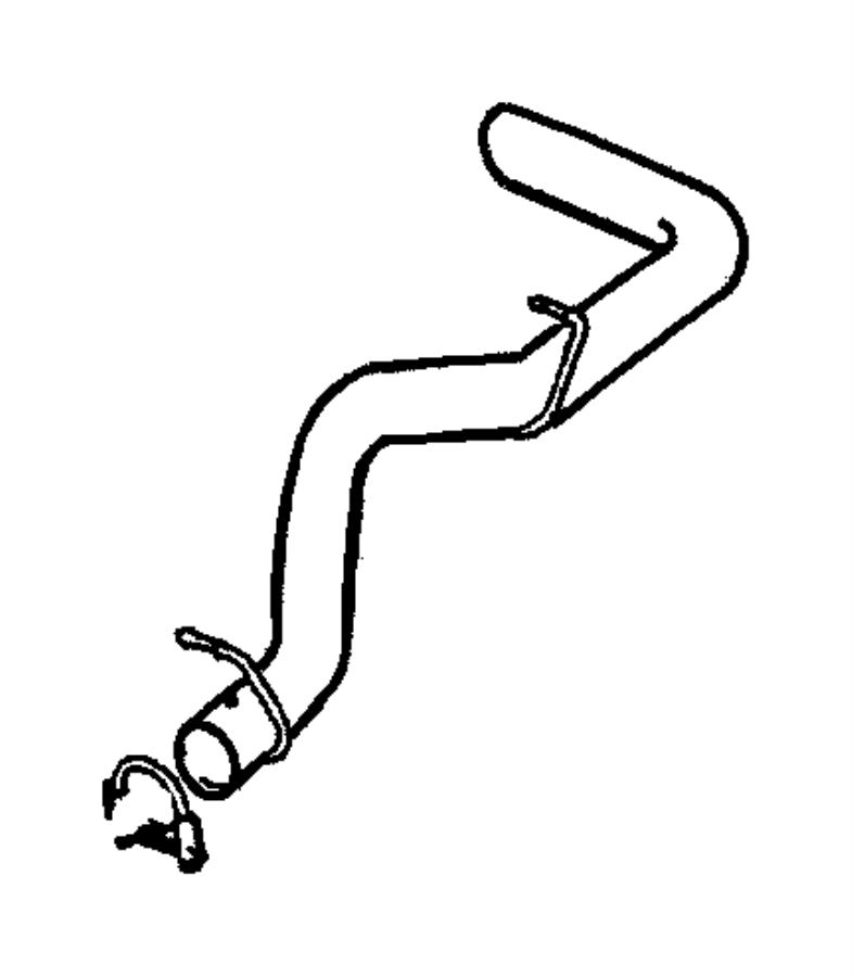 Dodge Dakota Pipe. Exhaust. Tail. 2.5 LITER. 3.9 LITER