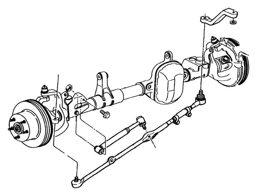 Jeep Grand Cherokee Steering Damper. LINKAGE, Series, GEAR