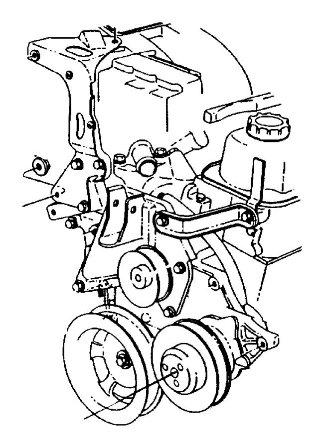 Chrysler Grand Voyager Engine Crankshaft Pulley. 3.3 & 3.8