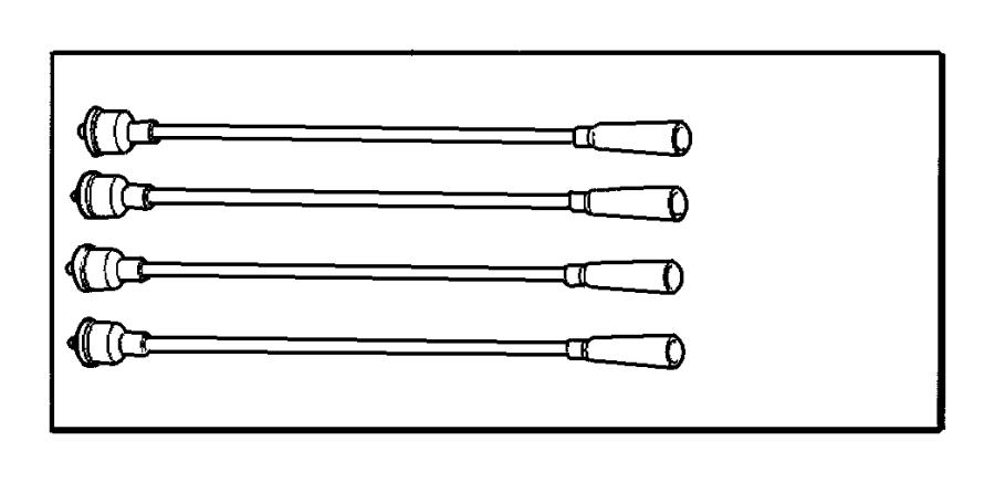 Dodge Caravan Spark Plug Wire Set. 3.3 & 3.8 LITER. All