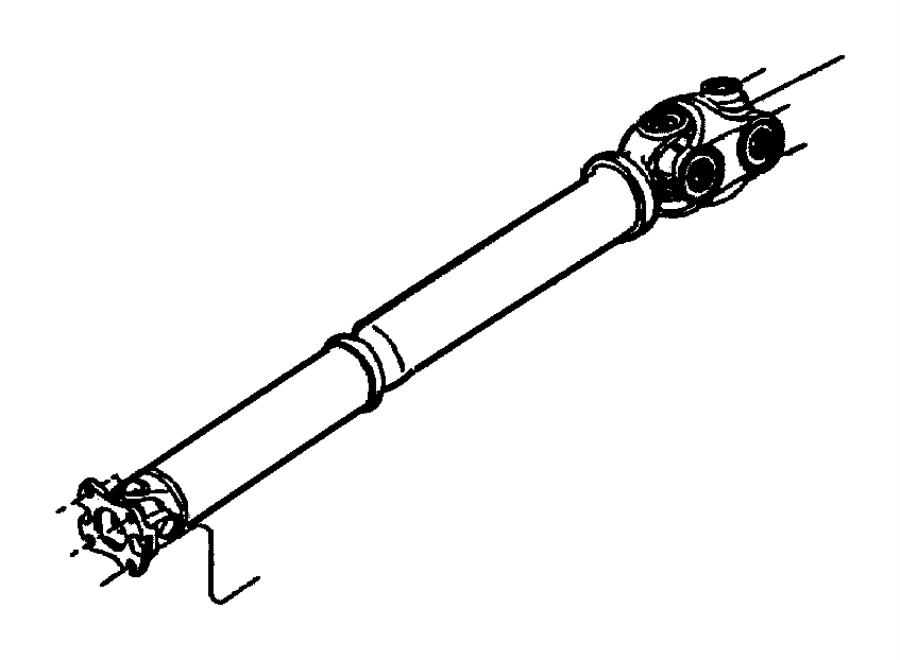 Dodge Dakota Drive shaft. Front propeller shaft. Manual