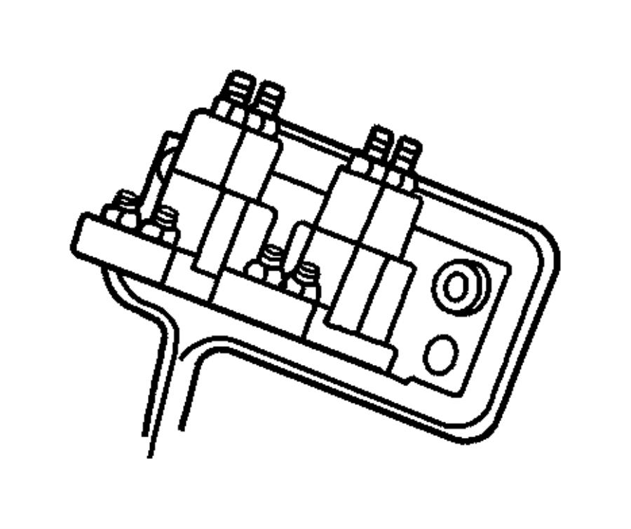 Dodge Ram 2500 Diesel Glow Plug Relay. ELECTRICAL. INTAKE
