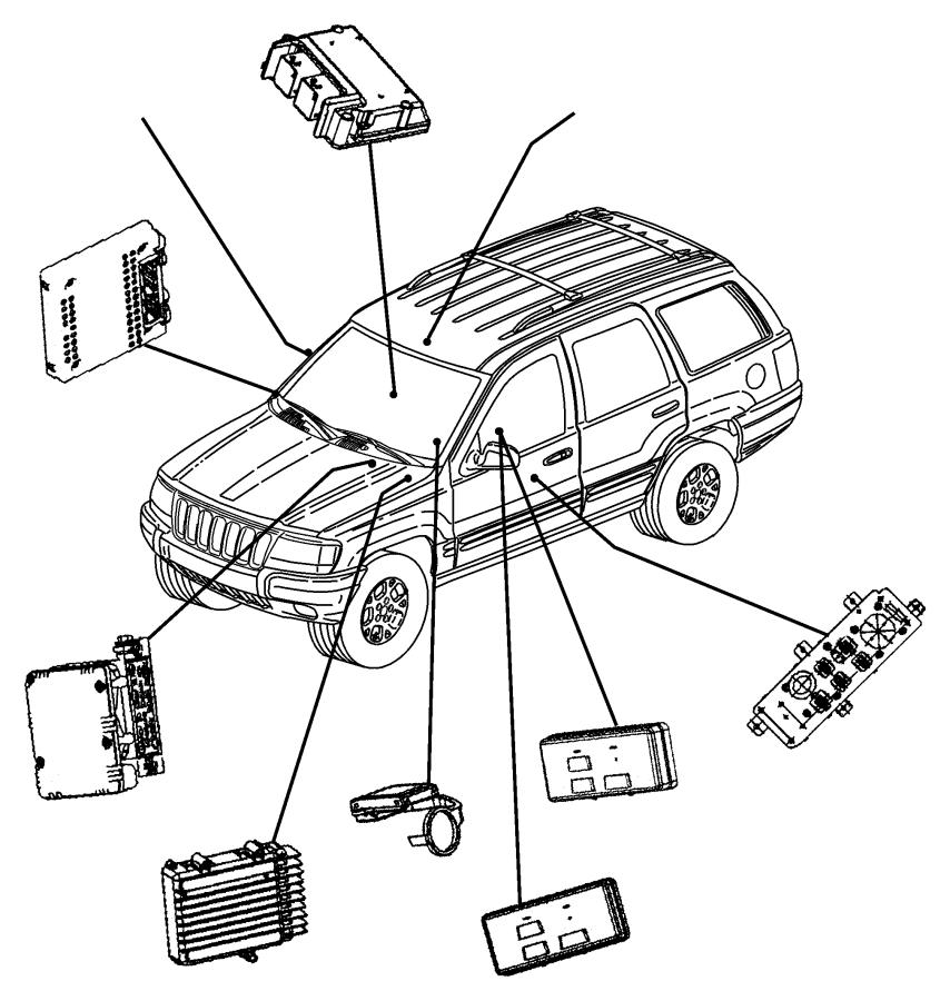 Jeep Grand Cherokee Abs control module. Abs control module