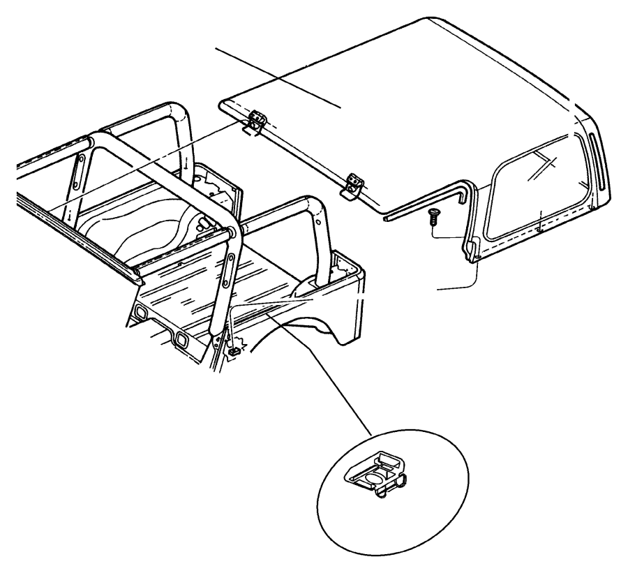 Jeep Wrangler Cover. Hardtop, wiring protector. Removable