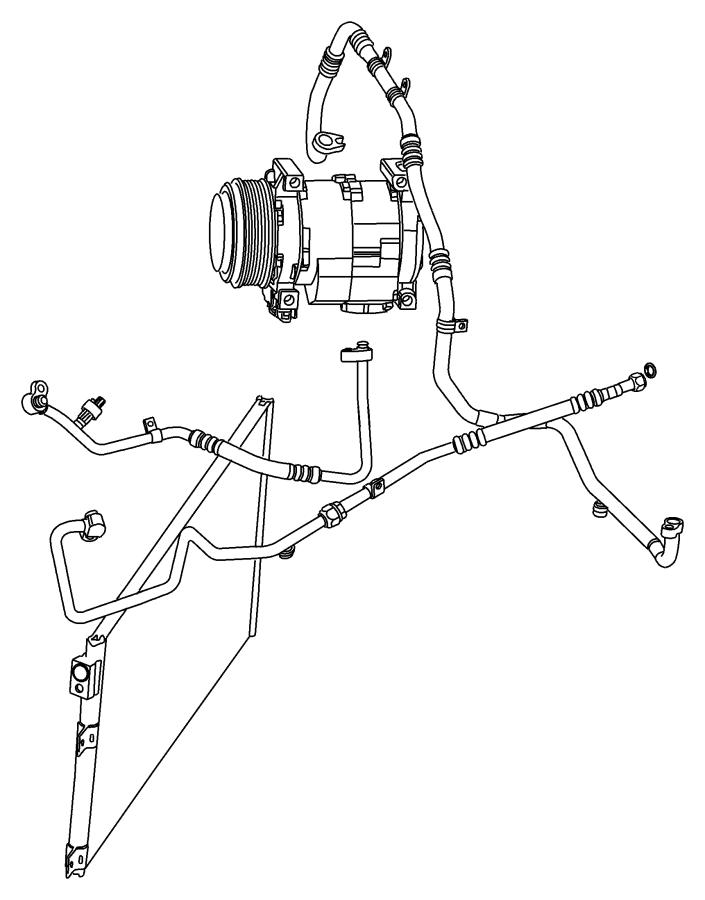 Chrysler PT Cruiser A/c service valve cap. Convertible, w