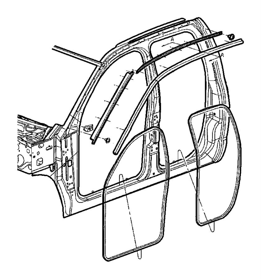 Dodge Ram 2500 Belt. Door. Weatherstrip. Molding. Door