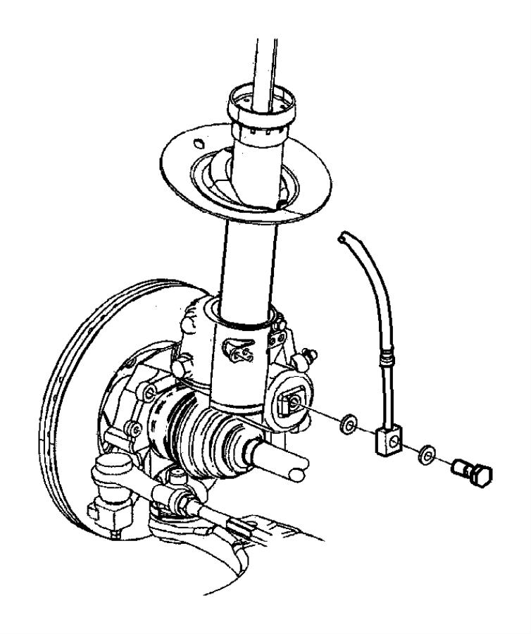 Dodge Neon Brake Hydraulic Hose. Left, ABS, SEDAN