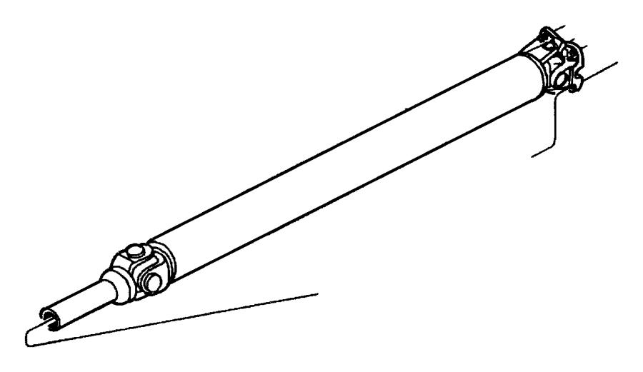 Dodge Dakota Drive shaft. Trans, Auto, Wheelbase