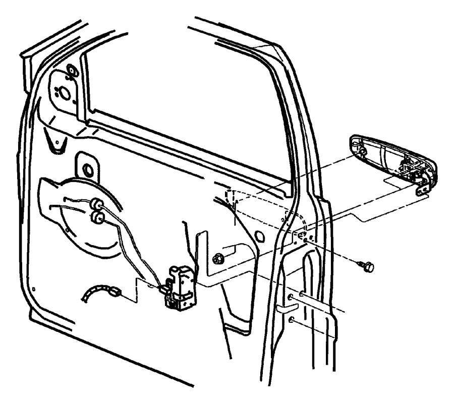 Jeep Grand Cherokee Lock. Latch. Door. (Front
