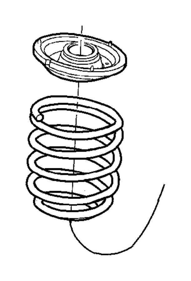 Dodge Neon Coil Spring Insulator. SUSPENSION, Front, Seat