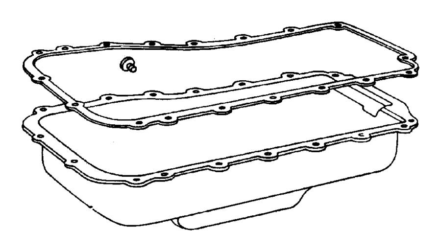 Chrysler Voyager Engine Oil Pan Gasket. 3.3 LITER. 3.8