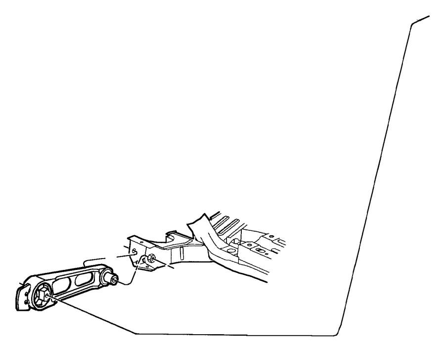 Dodge Neon Engine Torque Strut. Trans, Manual, Wmanual