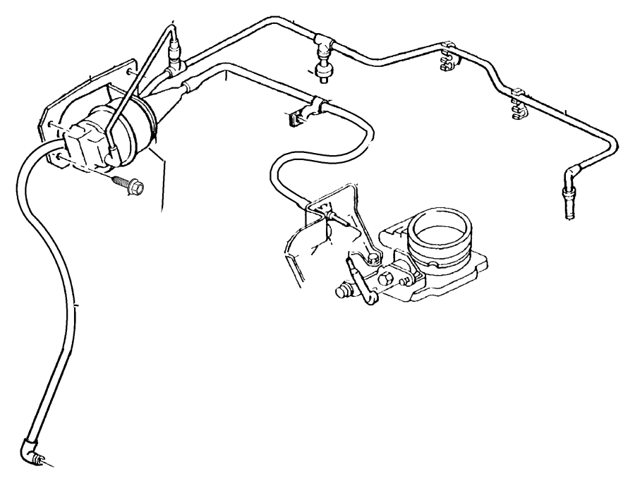 Jeep Cherokee Heater and air conditioning (a/c). Hose