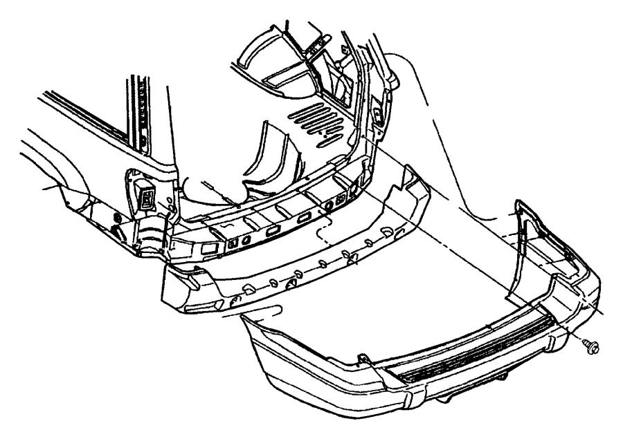 Jeep Grand Cherokee Bumper Impact Absorber (Rear). LAREDO